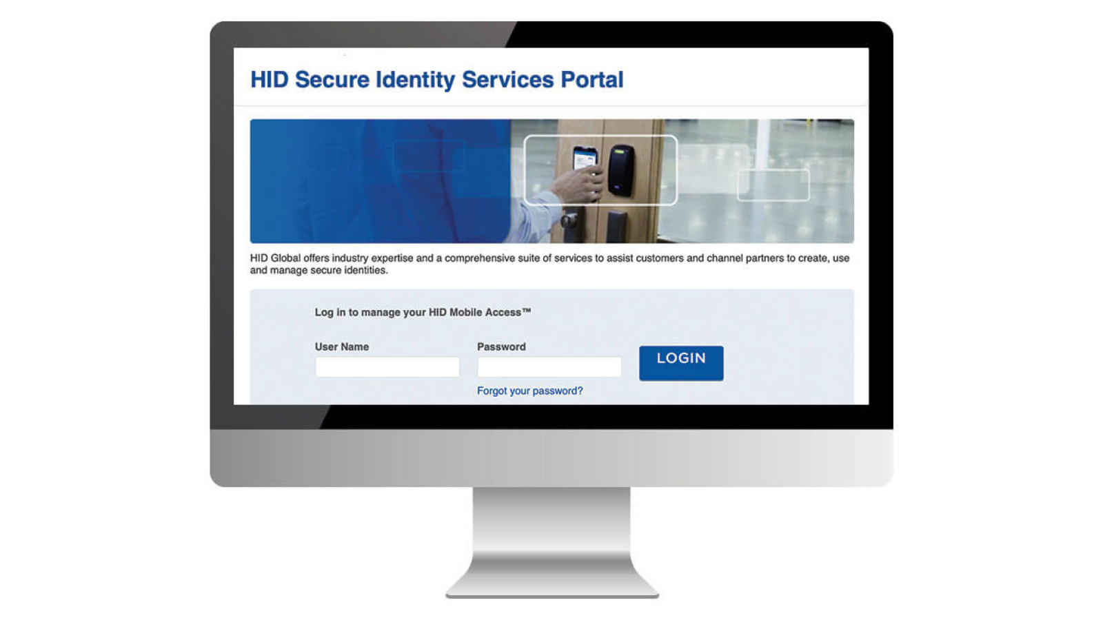 The cloud-based HID Identity Services Portal