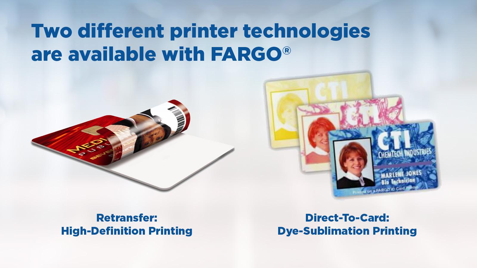 Fargo ID Card Printer Capabilties - HDP or DTC